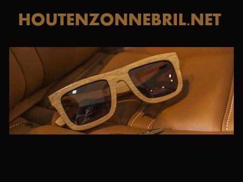 Houten zonnebril voor vrouwen